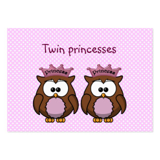 twin owl princesses large business card
