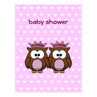 twin owl princesses post cards