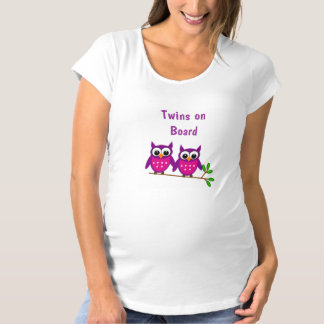 Twin Owls Maternity T-Shirt