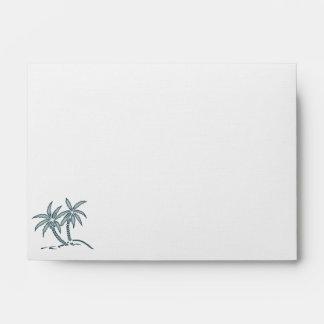 Twin Palm Trees Custom Envelopes