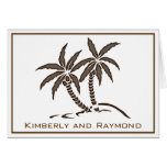 Twin Palm Trees Personalized Thank You  Card