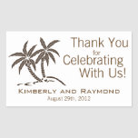Twin Palm Trees Rectangle Stickers
