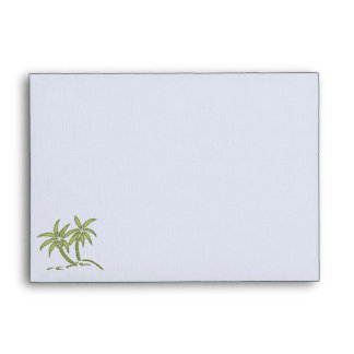 Twin Palm Trees Stationery Envelope