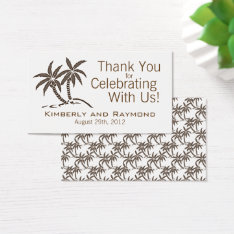 Twin Palm Trees Wedding Favor Tags at Zazzle