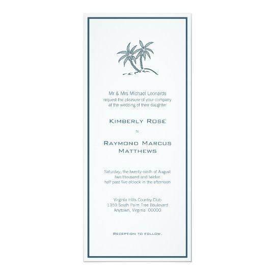 Twin Palm Trees Wedding Invitation