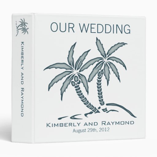 Wedding Gift For Twin Brother : Twin Palm Trees Wedding Memories Binder Zazzle