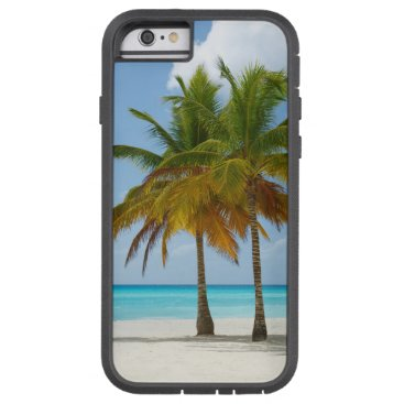 Beach Themed Twin Palms on White Sands Beach Turquoise Water Tough Xtreme iPhone 6 Case