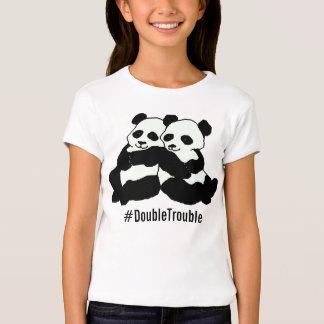 Twin Panda Hashtag Girl's Bella Shirt