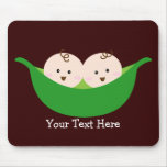 Twin Pea Pods (customizable) Mouse Pad