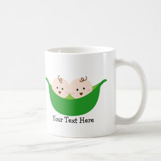 Twin Pea Pods (customizable) Classic White Coffee Mug