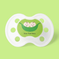 Twin Pea Pods (customizable) Pacifier