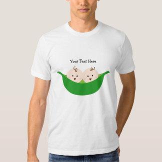 Twin Pea Pods (customizable) Tee Shirt