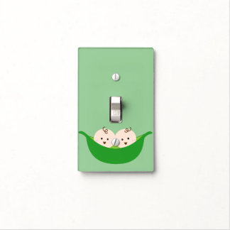 Twin Pea Pods Light Switch Cover