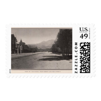 Twin Peaks from Market & Noe streets Postage Stamps