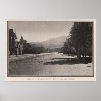Twin Peaks from Market & Noe streets Posters