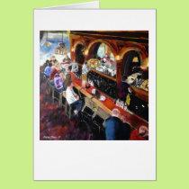 """Twin Peaks Tavern"" by Trina Chow Card"