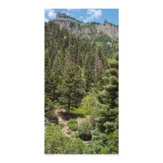 Twin Peaks Towers over Ouray, Colorado Card