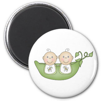 Twin Peas in a Pod 2 Inch Round Magnet