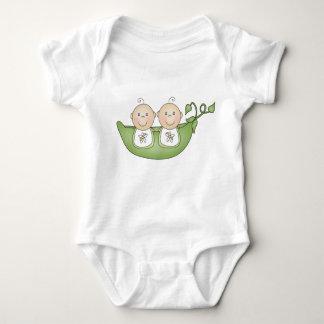 Twin Peas in a Pod Baby Bodysuit
