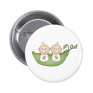 Twin Peas in a Pod Buttons