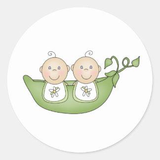 Twin Peas in a Pod Classic Round Sticker