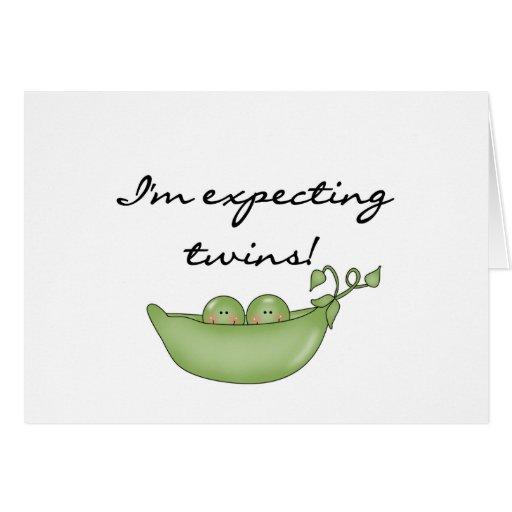 Twin Peas in a Pod Greeting Card