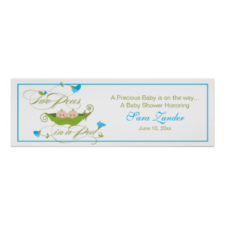 Twin Peas in a Pod Ping Banner Print