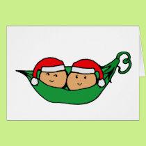 Twin Pod Christmas Graphic Card
