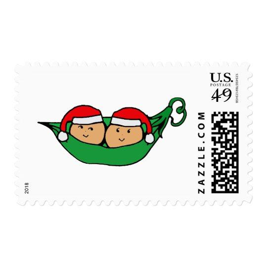 Twin Pod Christmas Graphic Postage