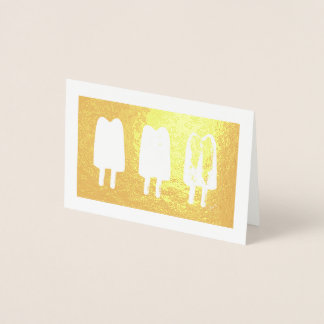 Twin Pop Popsicles Ice Lolly Lollies Print Foil Card