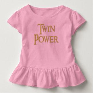 Twin, power, baby, girl, Ruffle  dress. Toddler T-shirt