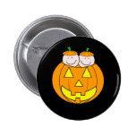 Twin Pumpkin Babies Graphic Pinback Button