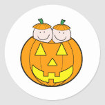 Twin Pumpkin Babies Graphic Sticker