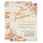 Twin Pumpkin Baby Shower Invite Rustic Fall Shower