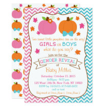 Twin Pumpkin Gender Reveal Card