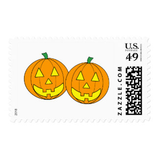 Twin Pumpkins Graphic Postage