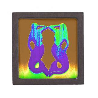 twin purple mermaids jewelry box