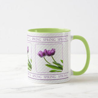 Twin Purple Tulips Spring Floral Photography Mug