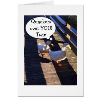 TWIN-QUACKERS OVER YOU-WADDLING BY BIRTHDAY WISHES GREETING CARD