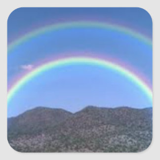 Twin rainbow sticker