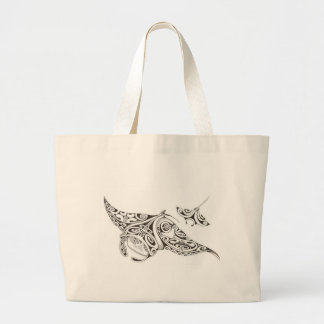 twin rays manta-rays large tote bag