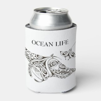 twin rays OCEAN LIFE Can Cooler
