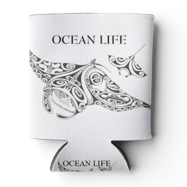 Beach Themed twin rays OCEAN LIFE Can Cooler