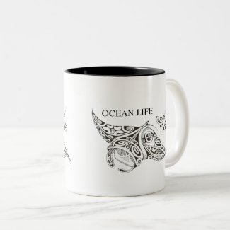 twin rays OCEAN LIFE Magic Mug