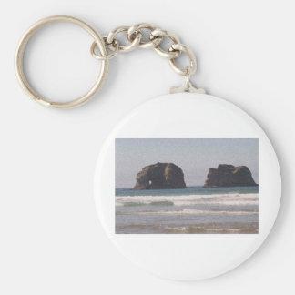 Twin Rock,Oregon Keychains