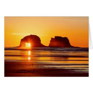 Twin Rocks Sunset Notecard
