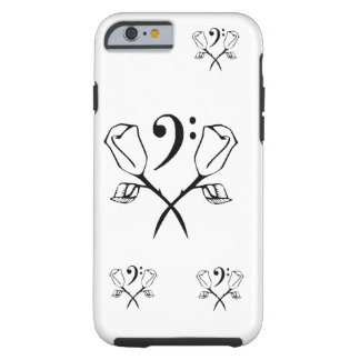 Twin Rose above Bass Clef Tough iPhone 6 Case