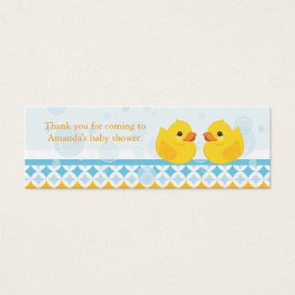 Twin Rubber Duckies Baby Shower Favor Tag