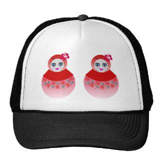 Twin Russian Babushka Dolls Trucker Hat