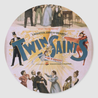 Twin Saints This Man is a Lunatic Retro Theater Stickers
